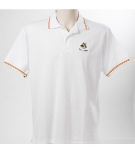 POLO ESPAÑA CON ESCUDO GUIA CANINO BORDADO, COLOR BLANCO