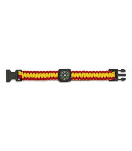 PULSERA PARACORD 22MM NEGRA