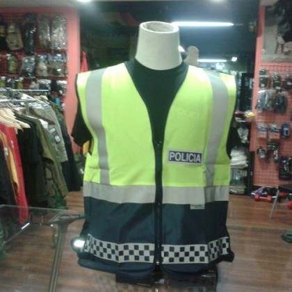 LIQUIDACION CHALECO REFLECTANTE POLICIA LOCAL TALLA 2XL