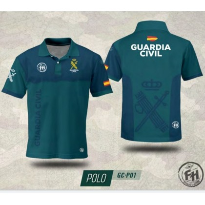 POLO FH GUARDIA CIVIL VERDE/AZUL
