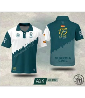 POLO FH GUARDIA CIVIL VERDE/BLANCO 175 AÑOS