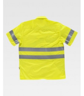 CAMISA WORKTEAM ALTA VISIBILIDAD COLOR AMARILLO