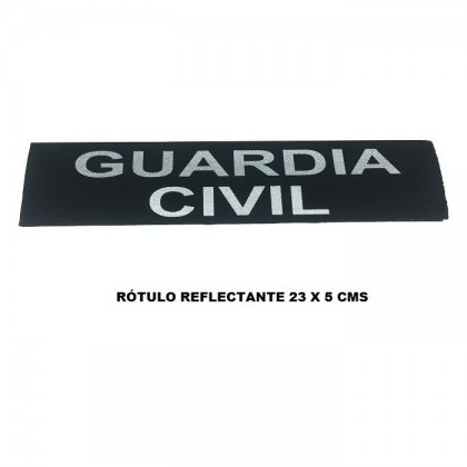 ROTULO REFLECTANTE CON VELCRO GUARDIA CIVIL, 23 X 5 CMS