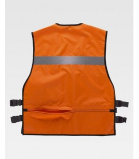 CHALECO WORKTEAM AJUSTES LATERALES COLOR NARANJA