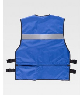 CHALECO WORKTEAM AJUSTES LATERALES COLOR AZUL