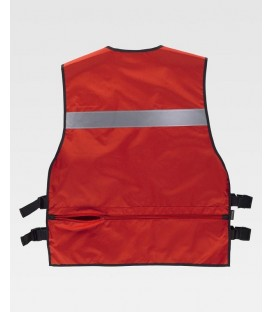 CHALECO WORKTEAM AJUSTES LATERALES COLOR ROJO