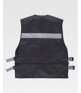 CHALECO WORKTEAM AJUSTES LATERALES COLOR NEGRO