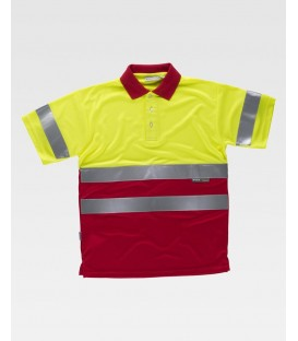 POLO WORKTEAM FLUOR AMARILLO/ROJO