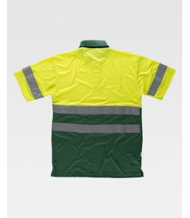 POLO WORKTEAM FLUOR AMARILLO/VERDE