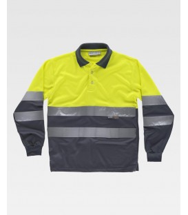 POLO WORKTEAM FLUOR AMARILLO/GRIS