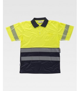 POLO WORKTEAM FLUOR MARINO/AMARILLO