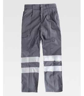 PANTALON CON DOBLE CAPA WORKTEAM GRIS