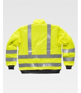 CHAQUETA WORKTEAM ACOLCHADA IMPERMEABLE A.V. COLOR AMARILLO