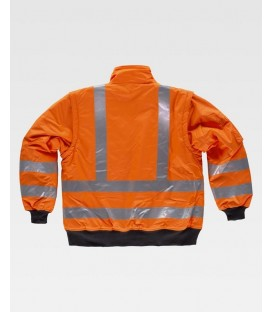 CHAQUETA WORKTEAM ACOLCHADA IMPERMEABLE A.V. COLOR NARANJA