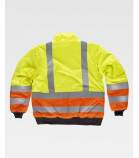 CHAQUETA WORKTEAM ACOLCHADA IMPERMEABLE A.V. COLOR AMARILLO-NARANJA
