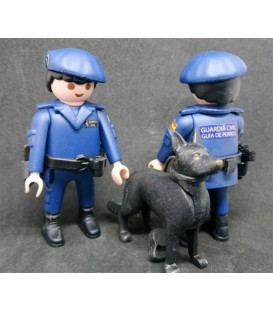 PLAYMOBIL GUARDIA CIVIL UNIDAD CANINA AZUL