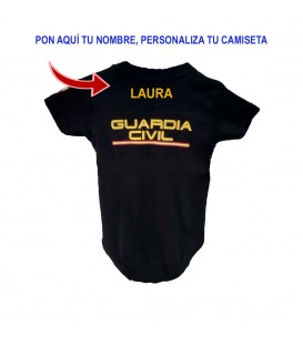 BODY BEBE GUARDIA CIVIL MANGA CORTA NEGRO PERSONALIZADO