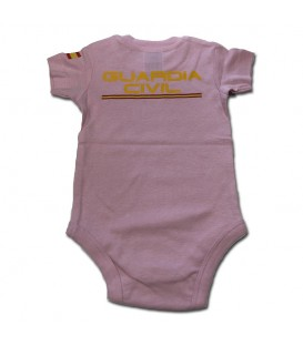 BODY BEBE GUARDIA CIVIL MANGA CORTA ROSA