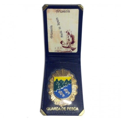 CARTERA + PLACA GUARDA DE PESCA