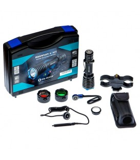 LINTERNA LED WARRIOR X 2000 lum. CON KIT DE CAZA, RECARGABLE, OLIGHT
