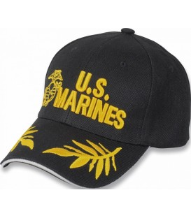 GORRA U.S. MARINES COLOR NEGRO