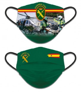 MASCARILLA FACIAL REVERSIBLE GUARDIA CIVIL TRAFICO