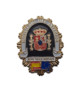 PLACA CARTERA JEFE SEGURIDAD