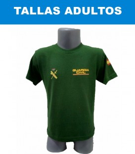 CAMISETA DE ALGODÓN COLOR VERDE TALLA ADULTO