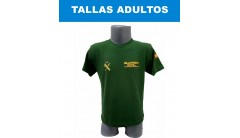 CAMISETA GUARDIA CIVIL DE ALGODÓN COLOR VERDE TALLA ADULTO