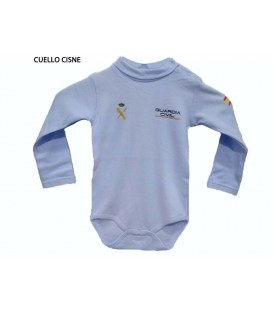 BODY BEBE GUARDIA CIVIL MANGA LARGA AZUL