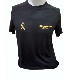 LIQUIDACION. CAMISETA TECNICA GUARDIA CIVIL MOD.1 COLOR NEGRO ADULTO