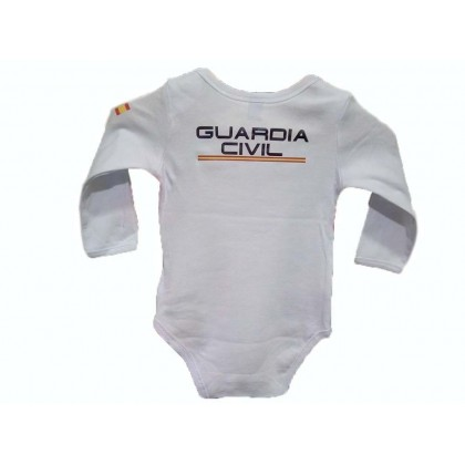 BODY BEBE GUARDIA CIVIL MANGA LARGA BLANCO