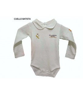 BODY BEBE GUARDIA CIVIL MANGA LARGA ROSA