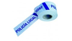"CINTA BALIZA AZUL POLICIA LOCAL ""NO PASAR"""