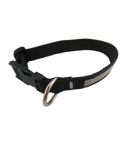 LIQUIDACION COLLAR IRON NYLON/NEOPRENO 41 CM DIAMETRO CON CINTA REFLECTANTE