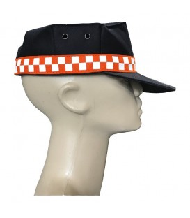 GORRA CON DAMERO NARANJA PROTECCION CIVIL