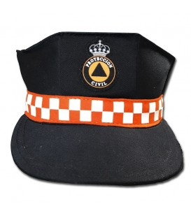 GORRA CON DAMERO NARANJA PROTECCION CIVIL ZEUS