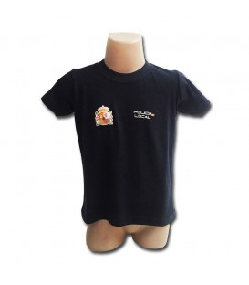 CAMISETA POLICIA LOCAL, COLOR AZUL MARINO. TALLAS NIÑOS
