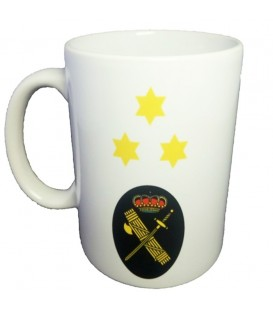 TAZA GUARDIA CIVIL RANGO CAPITAN (PERSONALIZABLE)