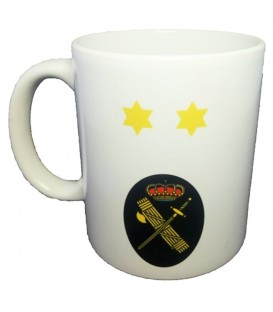 TAZA GUARDIA CIVIL RANGO TENIENTE (PERSONALIZABLE)