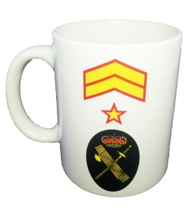 TAZA GUARDIA CIVIL RANGO SUBOFICIAL MAYOR (PERSONALIZABLE)