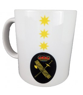 TAZA GUARDIA CIVIL RANGO CORONEL (PERSONALIZABLE)