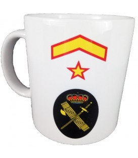 TAZA GUARDIA CIVIL RANGO SUBTENIENTE (PERSONALIZABLE)