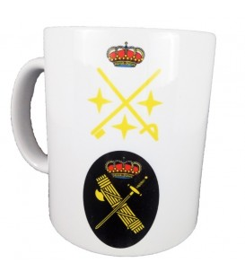TAZA GUARDIA CIVIL RANGO TENIENTE GENERAL (PERSONALIZABLE)