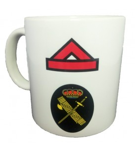 TAZA  GUARDIA CIVIL RANGO GUARDIA DE PRIMERA (PERSONALIZABLE)