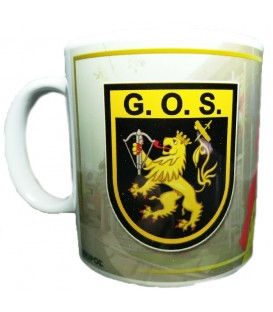 TAZA GUARDIA CIVIL ESCUDO G.O.S