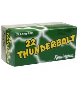 MUNICION CALIBRE 22 LR REMINGTON THUNDERBOLT CAJA DE 50 UN.