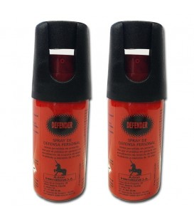 PACK 2 SPRAYS DE DEFENSA PERSONAL HOMOLOGADO DEFENDER